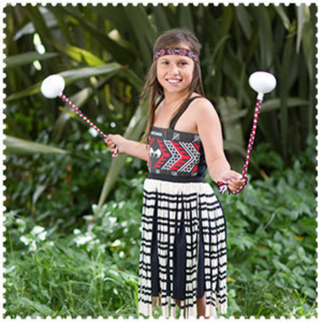 Maori Girl Costume 4XLg image 0