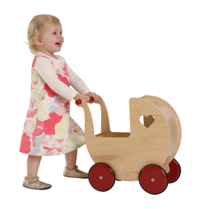 Moover Doll's Pram Natural image 0