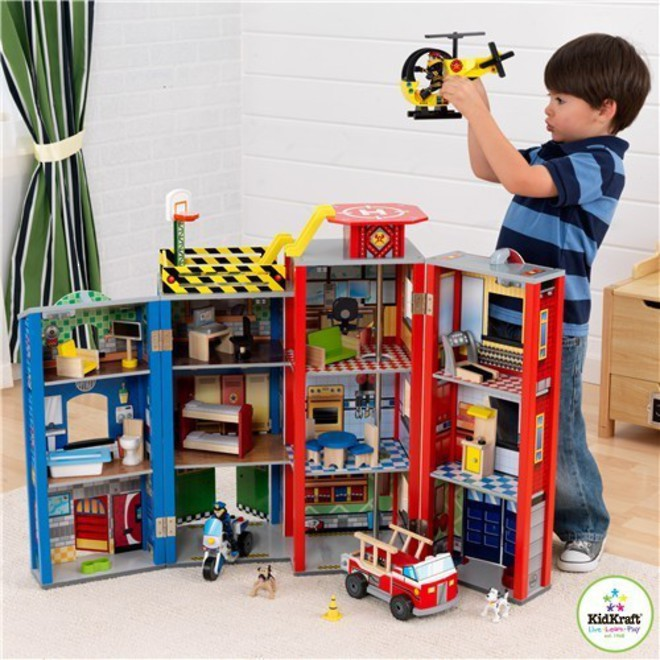 Kidkraft Everyday Heroes Wooden Play set - In storage until Level 4 is lifted - Pre-Orders accepted now image 0