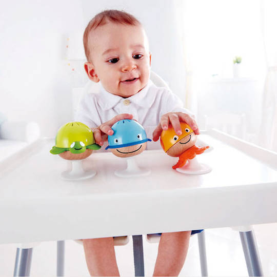 Hape Stay-put Rattle Set