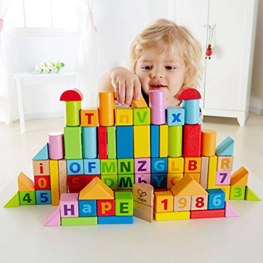 Hape Count & Spell Blocks, 80 pieces