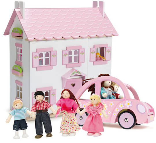 Le Toy Van Sophie's House, Sophie's Car & My Family Dolls Bundle