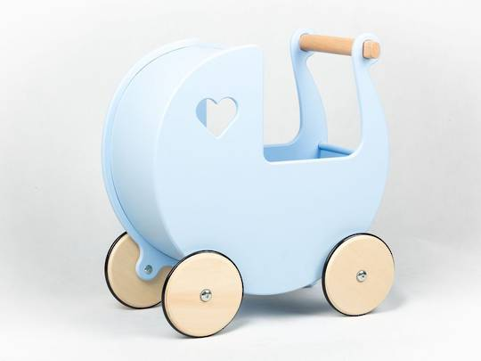 Moover Doll's Pram Pale Blue