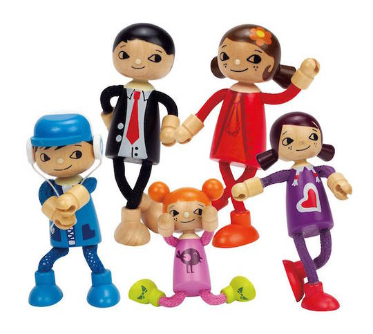 Hape Modern Family 5 Doll set