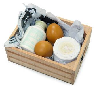 Le Toy Van Eggs & Dairy Market Crate