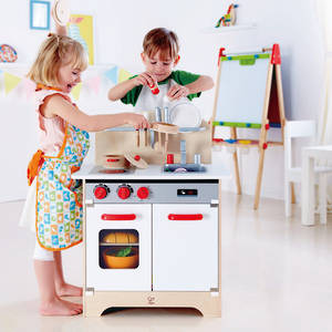 Hape White Gourmet Kitchen with Cook & Serve set