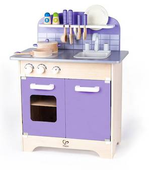 Hape Purple Gourmet Kitchen with Starter Cookware set