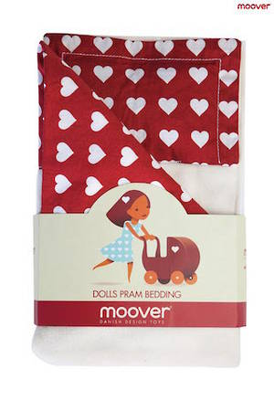 Dolls Pram Bedding Red