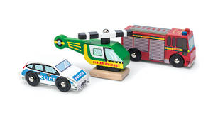 Le Toy Van Emergency Vehicles set