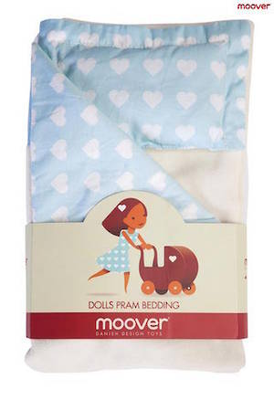 Dolls Pram Bedding Blue