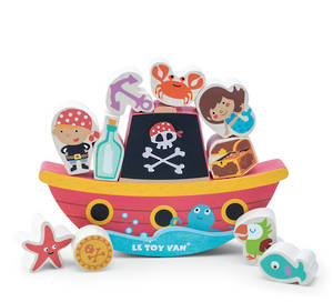"Le Toy Van Pirate Balance ""Rock and Stack"""